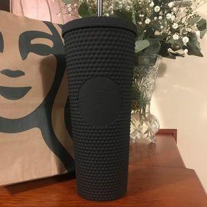 NWT Starbucks Matte Black Studded Venti Tumbler